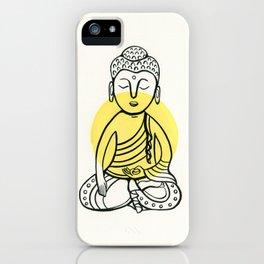 Yellow Buddha iPhone Case