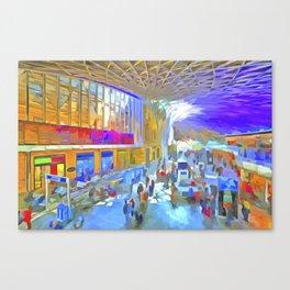 Kings Cross Station London Art Canvas Print