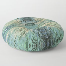 Electric Sea Foam Sunset by Chris Sparks Floor Pillow