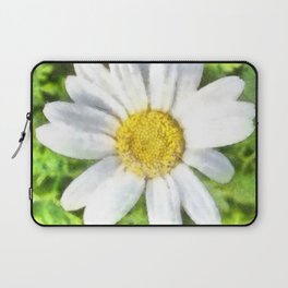Radiant Daisy Watercolor Laptop Sleeve