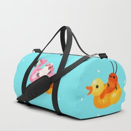 Cory cats in the swimming pool 2 Duffle Bag
