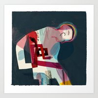pain Art Prints featuring Pain by Keith Negley