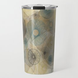 Watercolour Spirograph Travel Mug