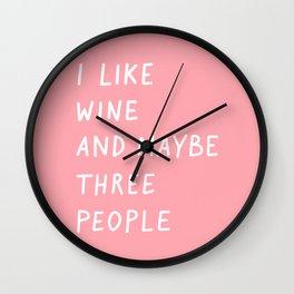 Wine Pink Wall Clock