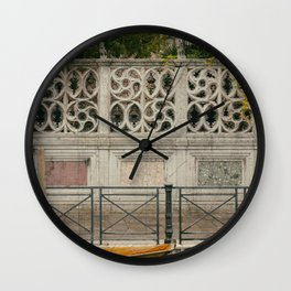 cercles in wall Venice Italy Wall Clock
