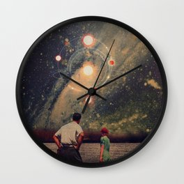 Light Explosions In Our Sky Wall Clock