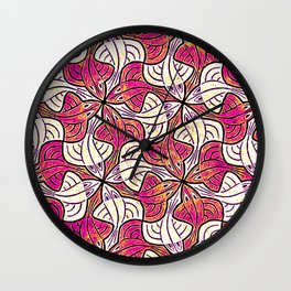 Fishy Patterns Wall Clock