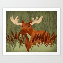 Moose Munch Art Print