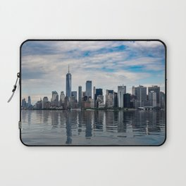Dramatic skyline of New York City Laptop Sleeve