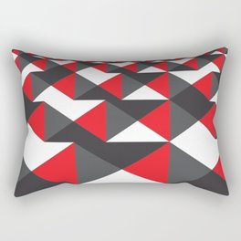 Geometric Pattern #20 (red triangles) Rectangular Pillow