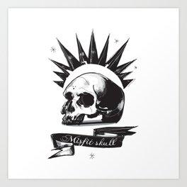 Misfit Skull Art Print
