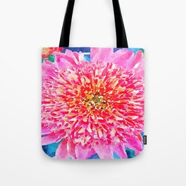 Pink Watercolor Flower Tote Bag