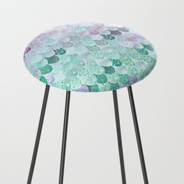SUMMER MERMAID - CORAL MINT Counter Stool