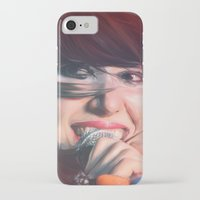 karen hallion iPhone & iPod Cases featuring Karen O by Camila Fernandez