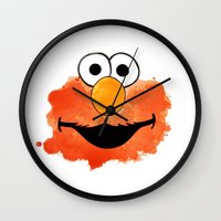 elmo Wall Clocks featuring ElmO by Cookstar