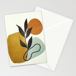 Soft Abstract Small Leaf Stationery Cards