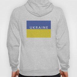 Ukraine country flag name text Hoody