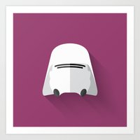 Snowtrooper Flat Design  Art Print