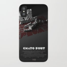 Chato Font poster iPhone Case