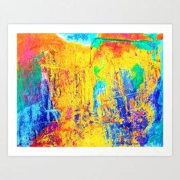 Imaginäre Landschaft - Ölgemälde auf Leinwand Art Print