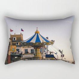 Swing ride at the pier Rectangular Pillow