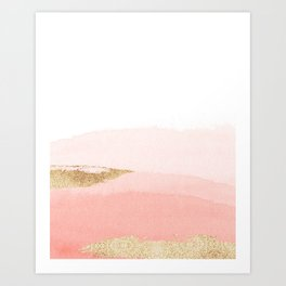 Abstract Blush Ombre Art Print
