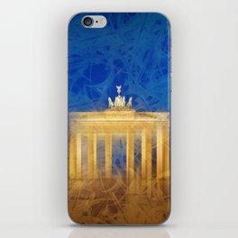 Modern Art BERLIN Brandenburg Gate iPhone Skin