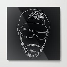 Wireframe of Jared Metal Print