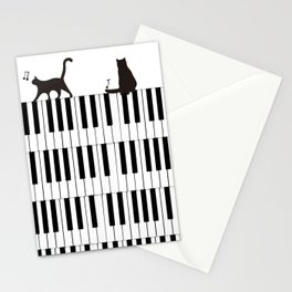 Piano Cat Stationery Cards