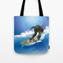 Surfing Predator Tote Bag