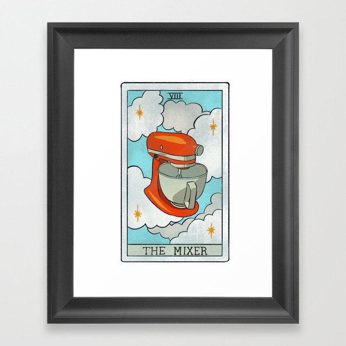 The Mixer | Baker's Tarot Gerahmter Kunstdruck