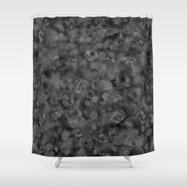 Dark Charcoal Gray and Light Grey Abstract Shower Curtain