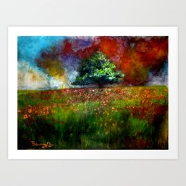 through the colors ! Art Print
