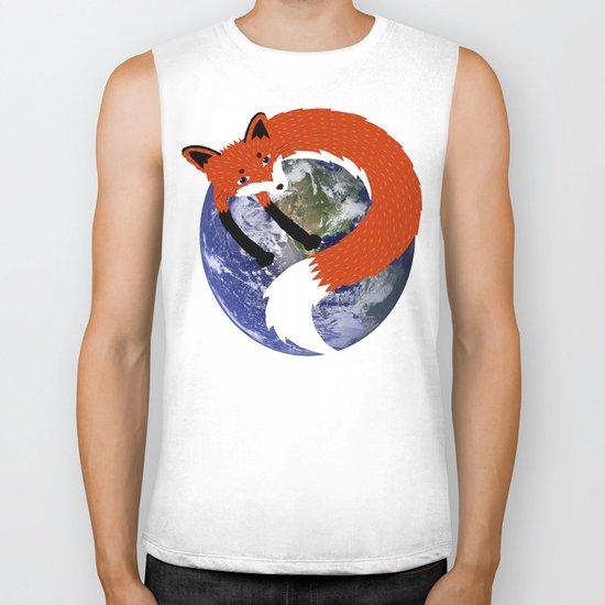 Fox in the Universe Biker Tank