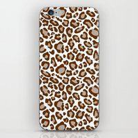 leopard iPhone & iPod Skins featuring Leopard by Zen and Chic