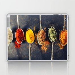 Colorful spices in metal spoons Laptop & iPad Skin
