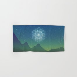 Sacred Geometry (Cosmic Connection) Hand & Bath Towel