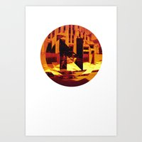 N for new york Art Print