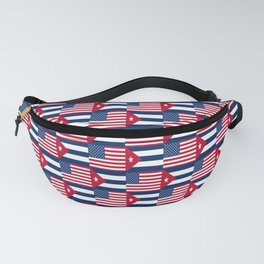 Mix of flag : usa and Cuba Fanny Pack