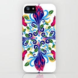 Moroccan Rose Tile Pattern iPhone Case