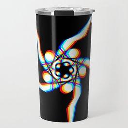 Pansy - Black Travel Mug