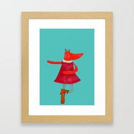 Dancing Fox Framed Art Print
