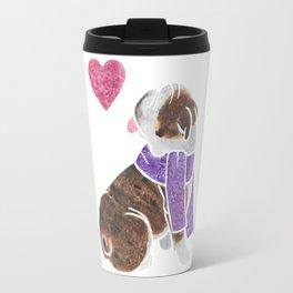 Watercolour English Bulldog Travel Mug
