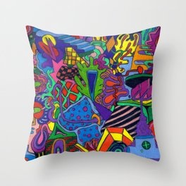 hop skip Throw Pillow