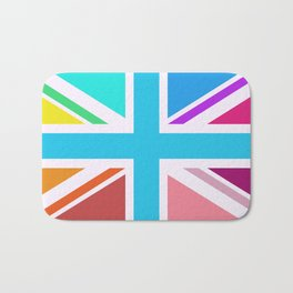 Union Jack/Flag Design Multicoloured Bath Mat