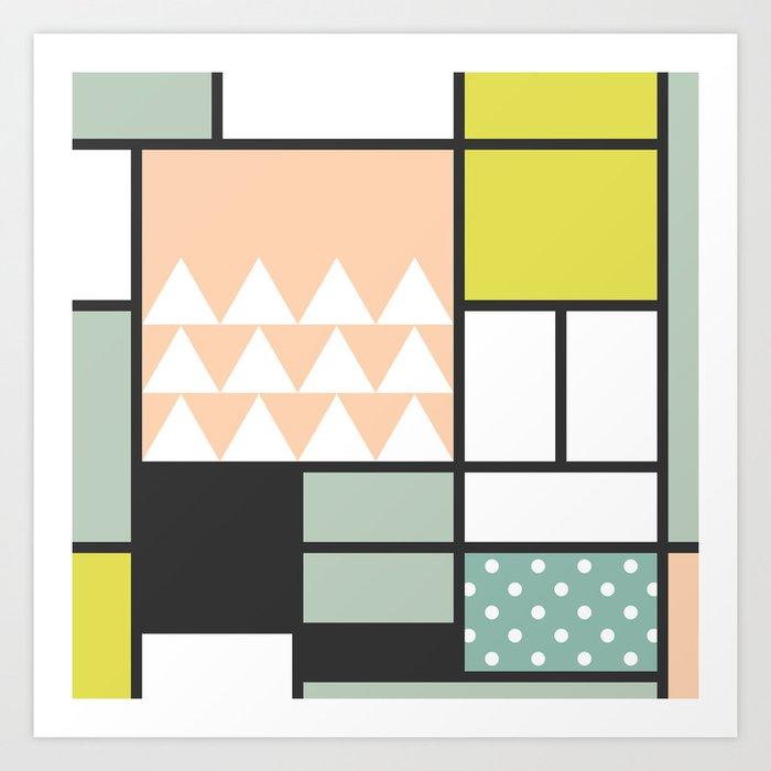 Summer Mondrian 2016 Art Print