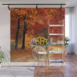 From Autumn to Spring Wall Mural