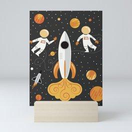 Astronauts in Space Mini Art Print