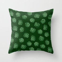Brussels Sprouts Pattern Throw Pillow