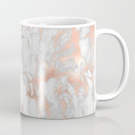 Rose Gold Marble Pattern Coffee Mug